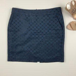 Banana Republic Polka Dot Navy Blue Skirt
